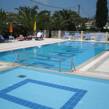 Zwembad van Filippas Appartementen in Gouvia, Corfu