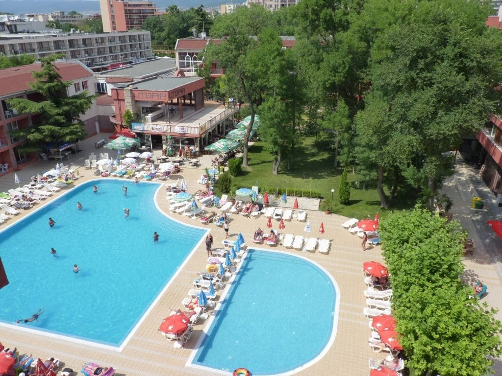 Zwembad Appartementencomplex Zornitsa in Sunny Beach, Bulgarije