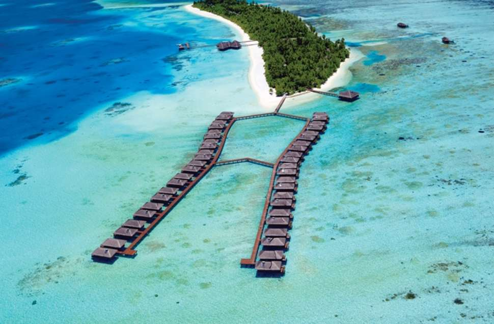 Bungalows in zee van Medhufushi Island Resort in Medhufushi, Malediven