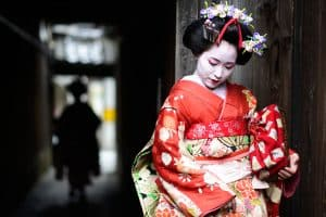 Geisha in Kioto, Japan