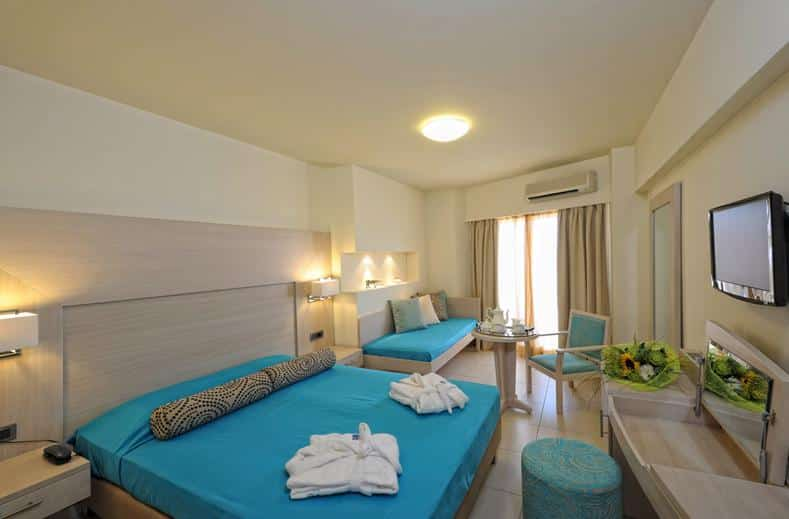Hotelkamer van Aphrodite Beach Club resort in Gouves, Kreta