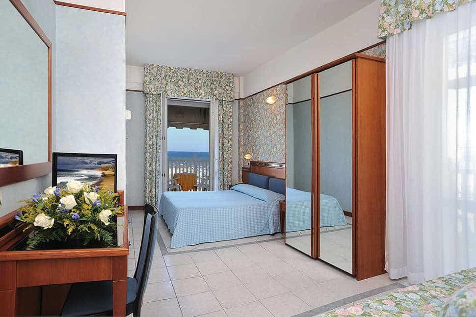 Hotelkamer van Hotel De France in Rimini, Italië