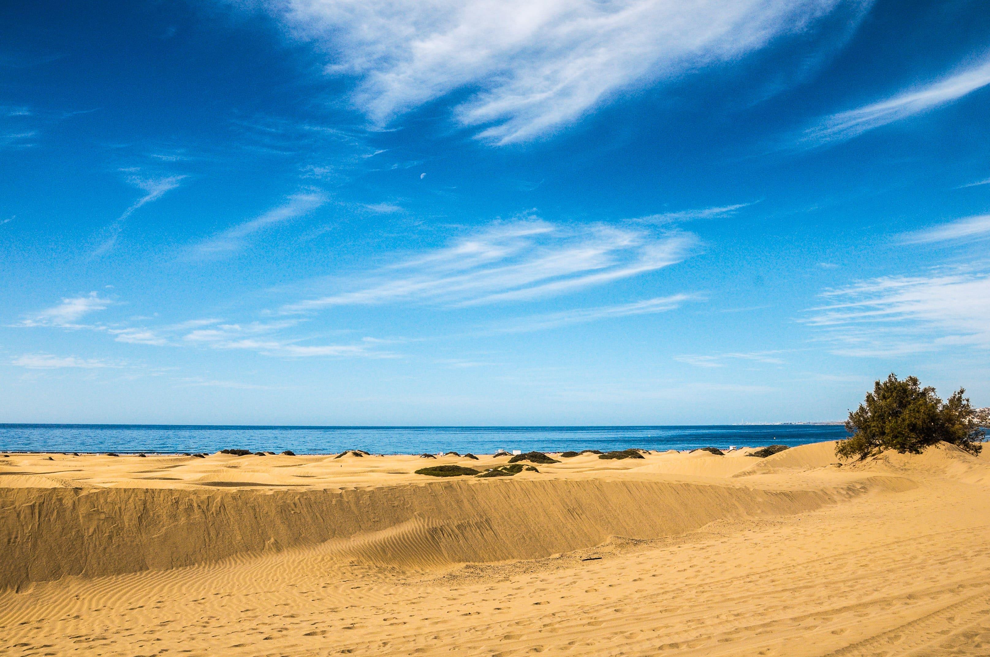 Strand op Gran Canaria, Canarische Eilanden, Spanje