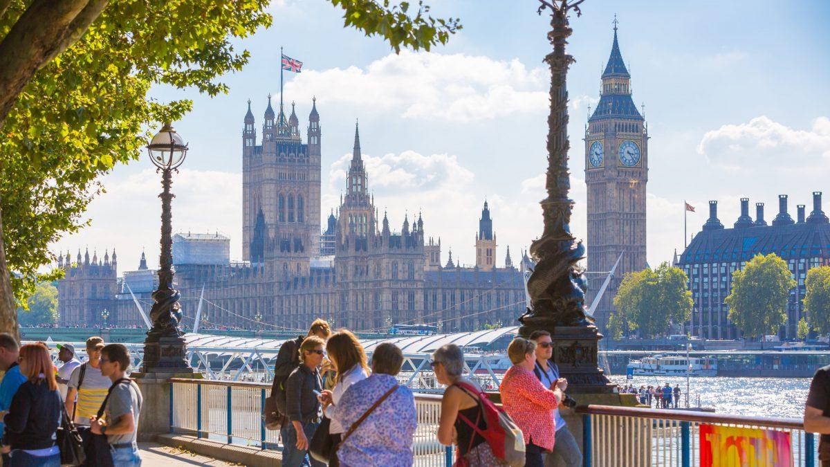 Toeristen in Londen, Verenigd Koninkrijk
