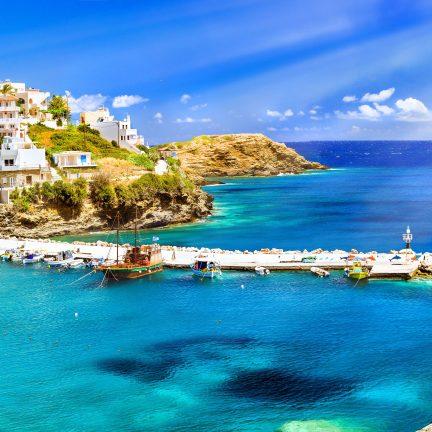 Uitzicht op de haven van Rethymnon, Kreta