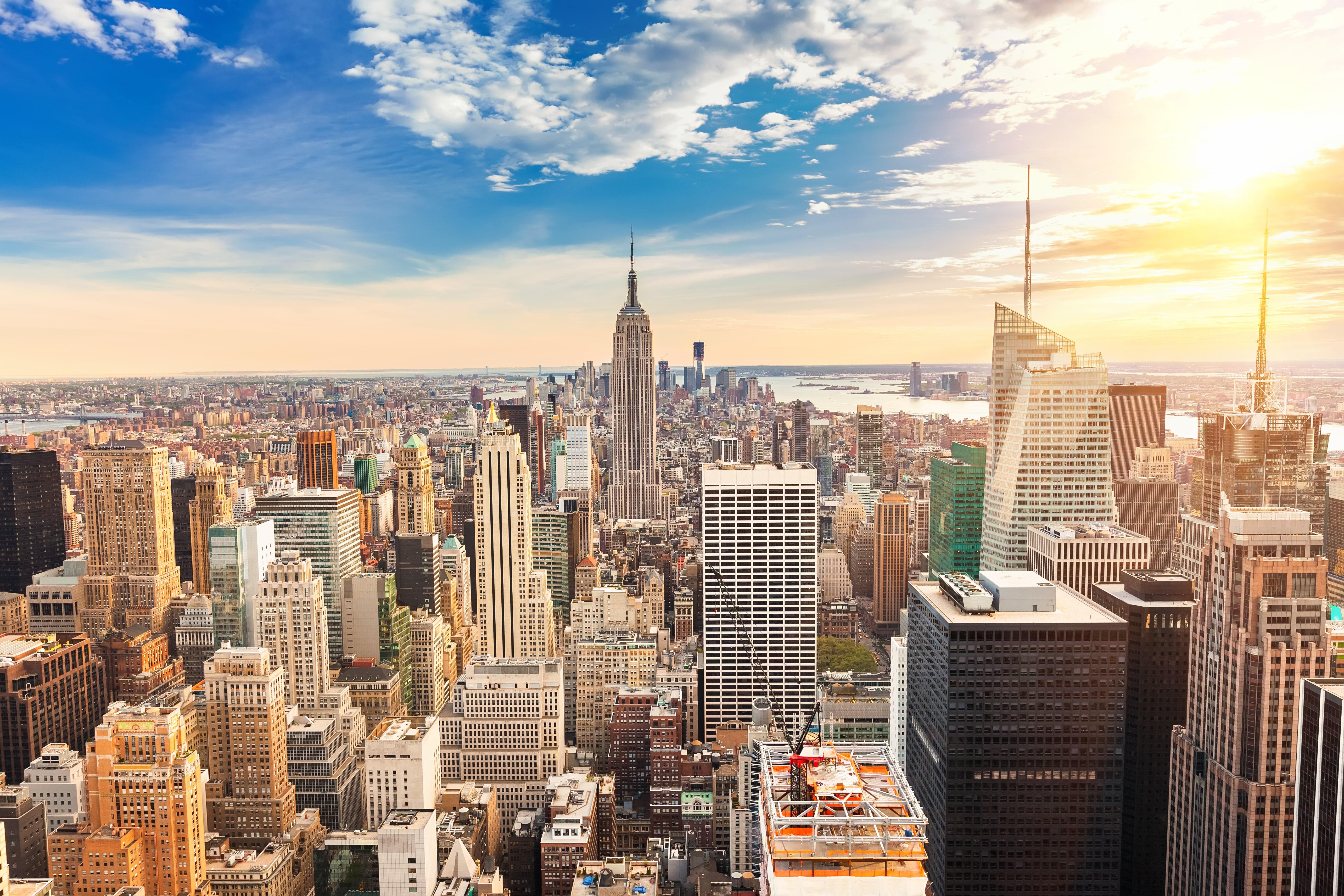 Uitzicht over New York