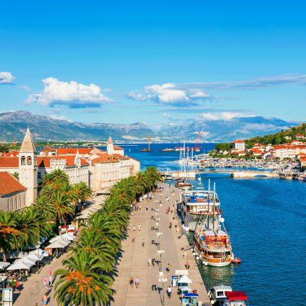 Uitzicht over Trogir, Kroatië