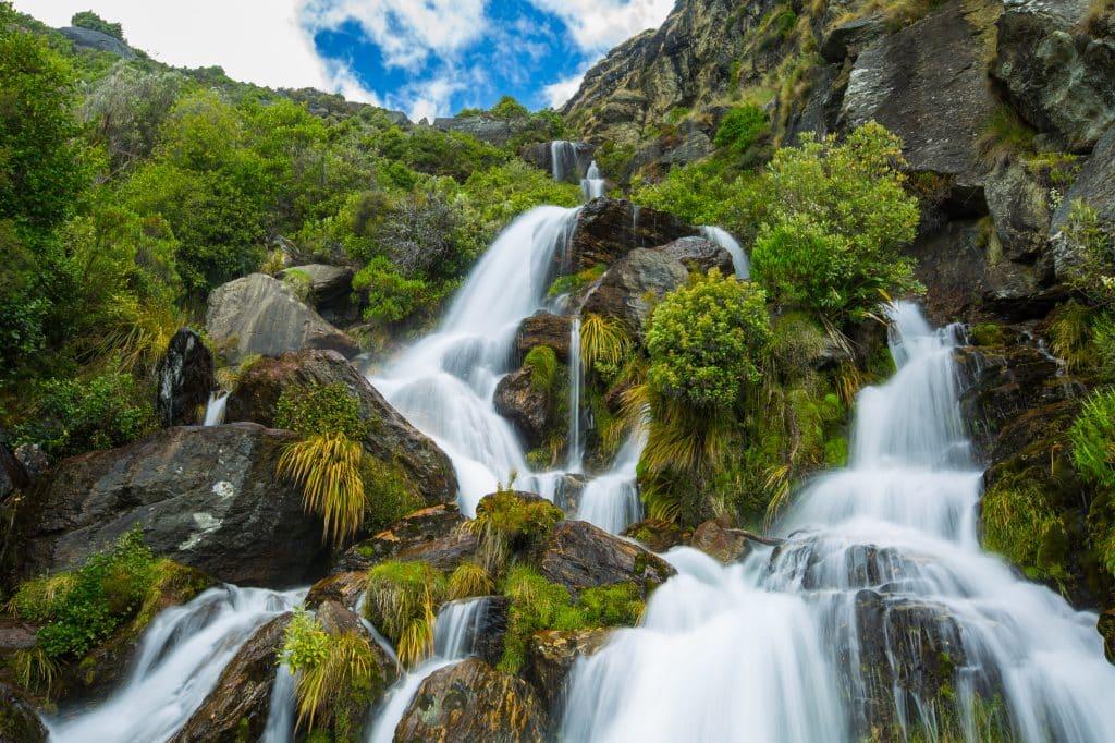 Waterval in Nieuw-Zeeland