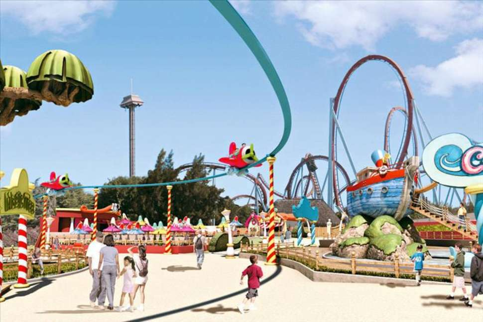 Attracties in PortAventura in salou, Spanje