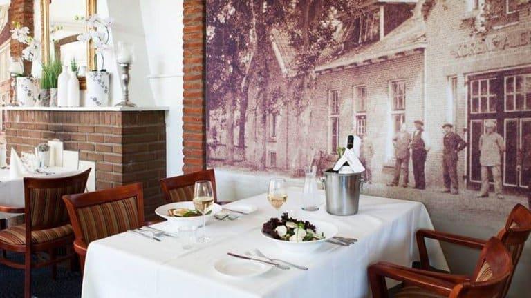 Diner in Hotel Restaurant Oringer Marke in Odoorn, Drenthe