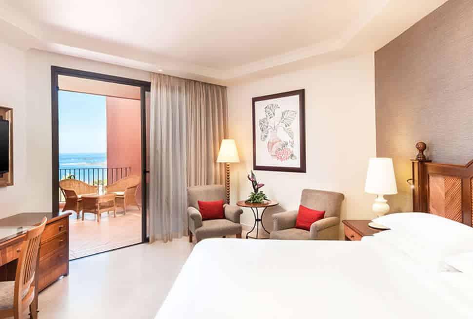 Hotelkamer van Sheraton La Caleta in Costa Adeje, Tenerife