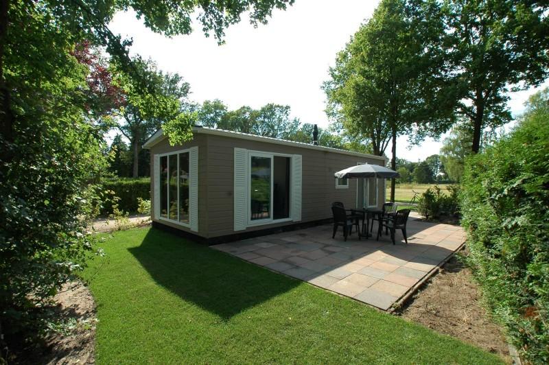 Lodge de Kieviet van Vakantiepark Landgoed de IJsvogel in Voorthuizen, Gelderland