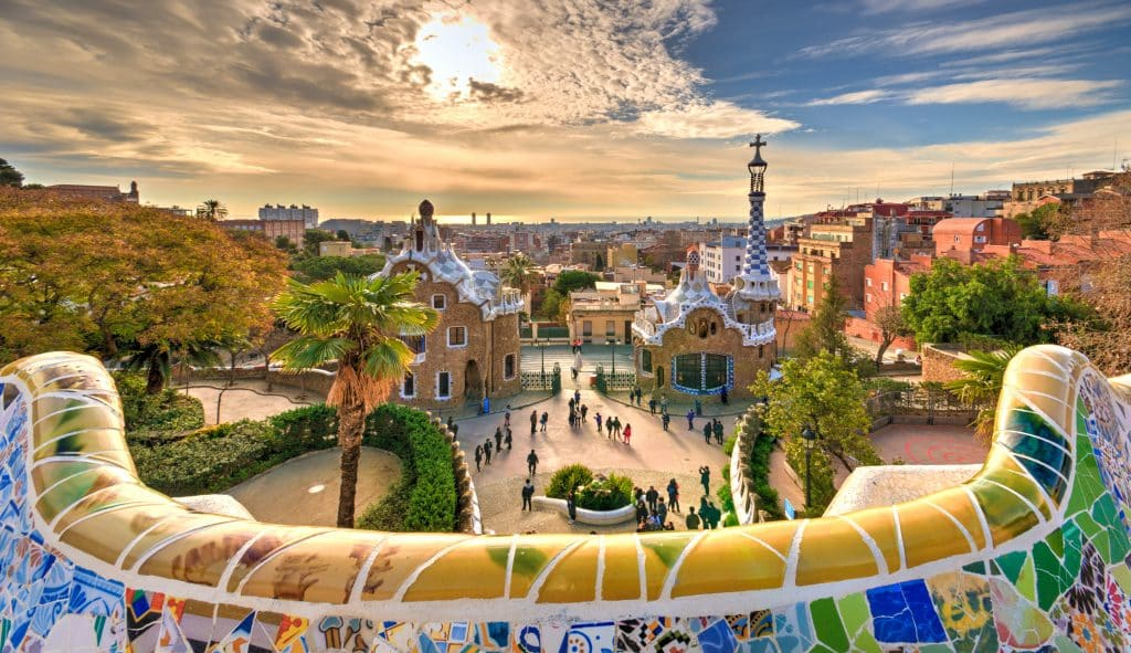 Guell Park in Barcelona