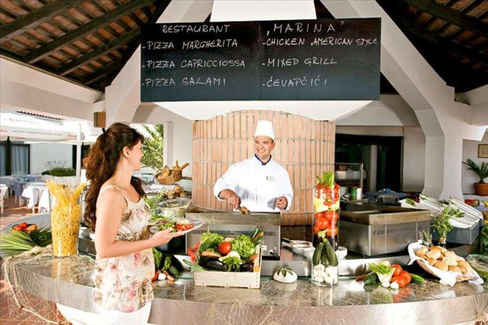 Restaurant van Appartementen Laterna in Porec, Kroatië