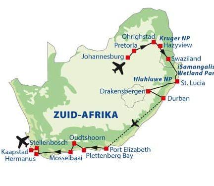 Route rondreis Zuid-Afrika