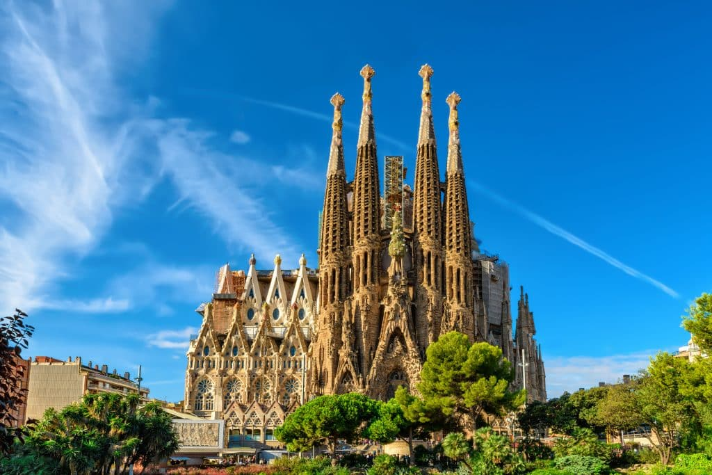 Sagrada Familia in Bracelona, Spanje