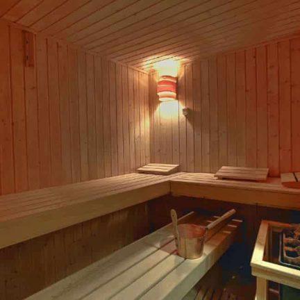 Sauna van Hotel Mediterran in Boedapest, Hongarije