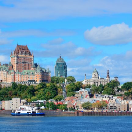 Uitzicht over de skyline van Quebec, Canada