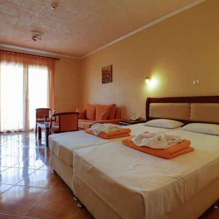 Hotelkamer van Harris Hotel in Anaxos, Lesbos