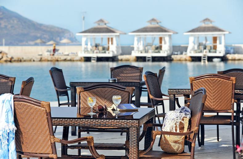 Restaurant van La Blanche Resort & Spa in Turgutreis, Turkije