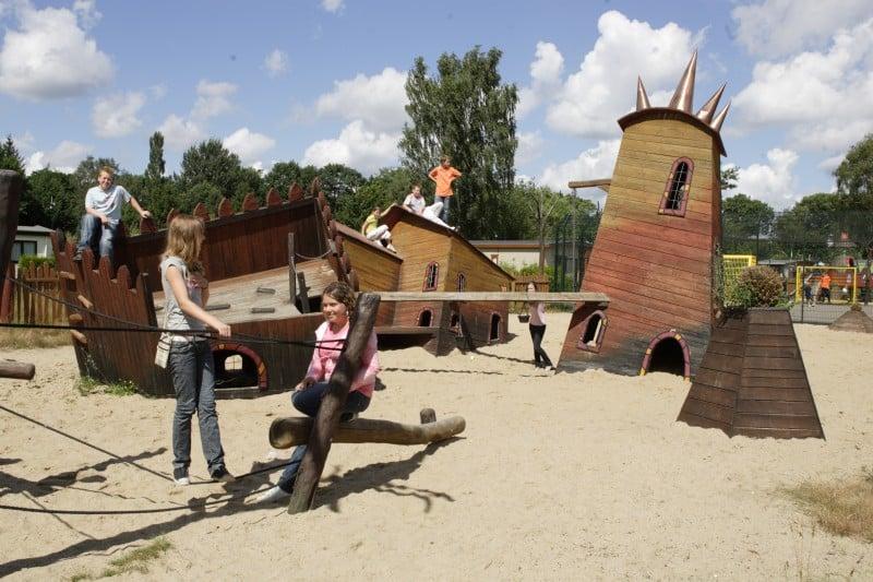 Speeltuin van Vakantiepark Landgoed de IJsvogel in Voorthuizen, Gelderland
