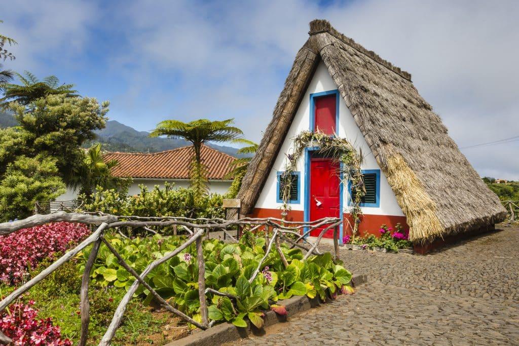 Traditioneel huis in Santana op het eiland Madeira, Portugal