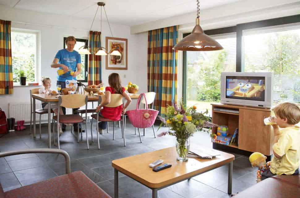 Binnenkant van de vakantiewoningen van Marveld Recreatie in Groenlo, Gelderland