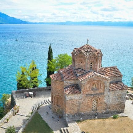 Sint Jovan Kanaro Kerk in Ohrid, Macedonië