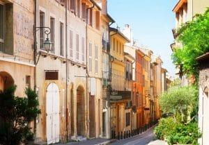 Straatje in Nice, Frankrijk