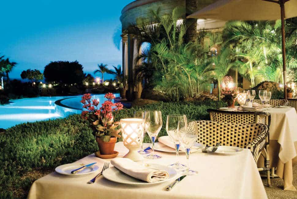 Dineren bij Iberostar Grand Hotel El Mirador in Costa Adeje, Tenerife