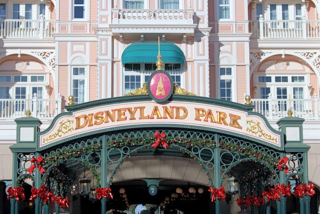Ingang van Disneyland Parijs in Frankrijk
