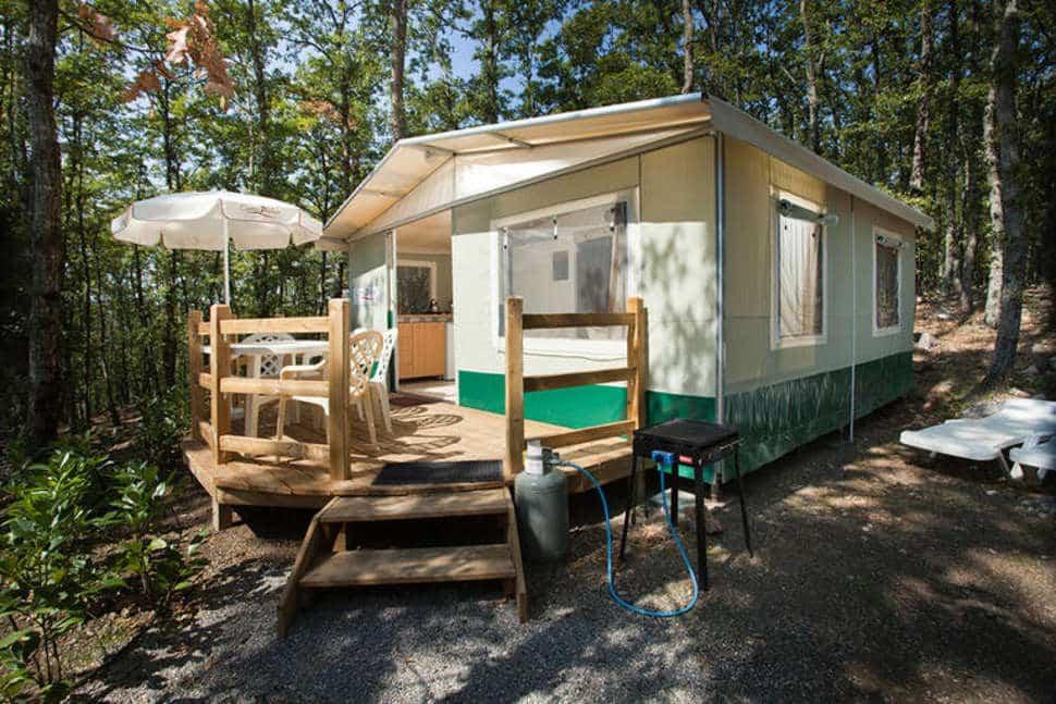 Lodgetent van Camping Orlando in Chianti in Cavriglia, Toscane