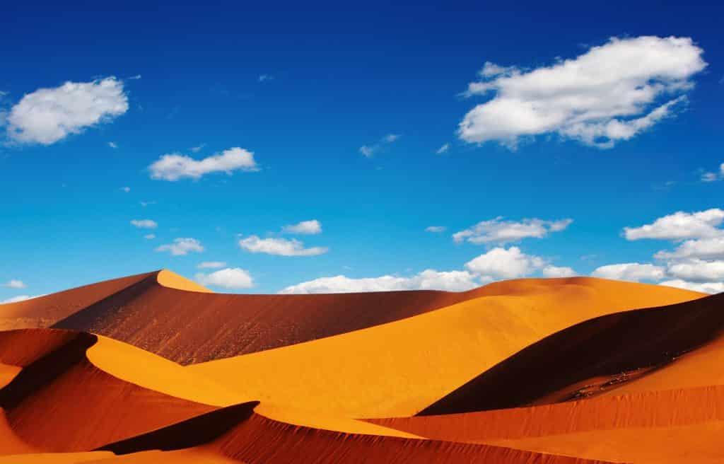 Heuvels in de woestijn