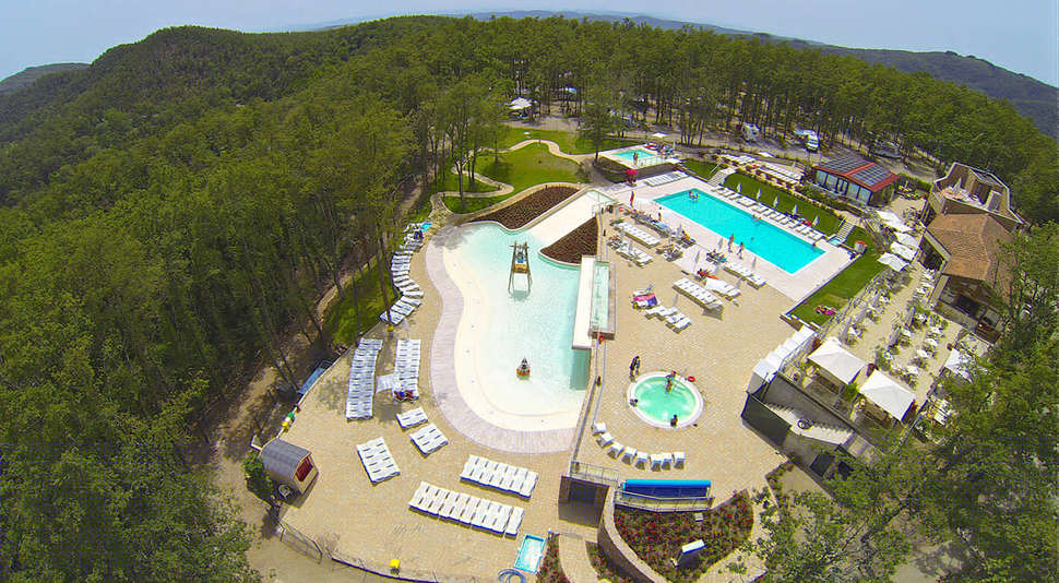 Zwembaden van Camping Orlando in Chianti in Cavriglia, Toscane