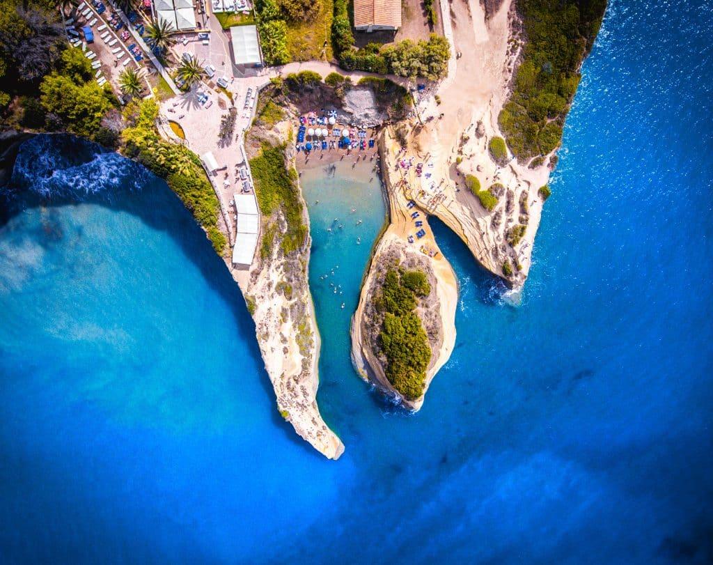 Canal D'Amour strand in Sidari, Corfu