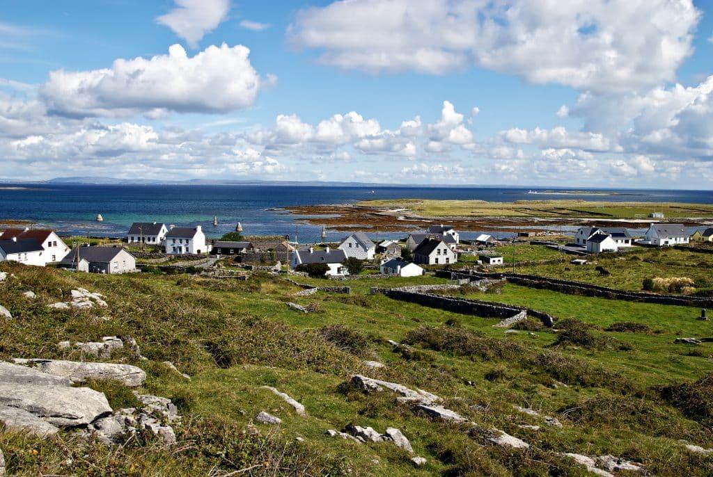 Kileany op de Aran eilanden in Ierland