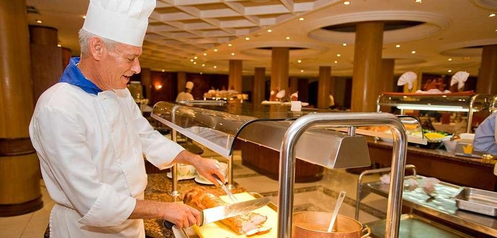 Buffet van Hotel Bahia Princess in Costa Adeje op Tenerife