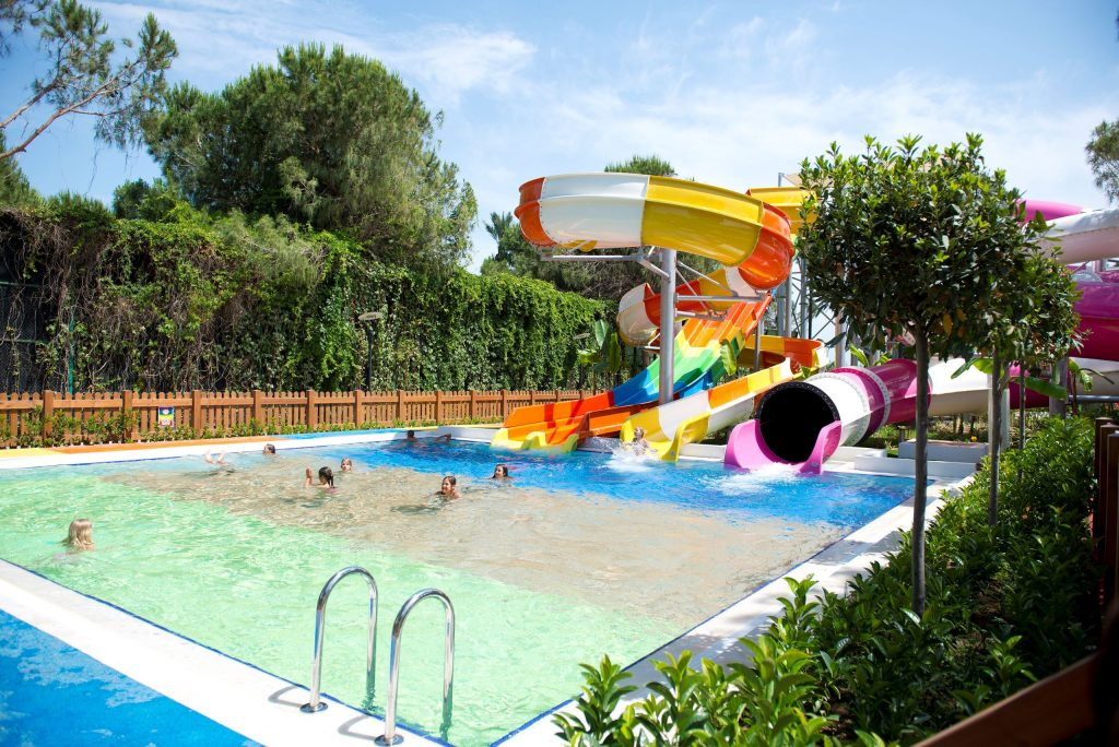 Glijbanen van Xanadu Resort in Belek, Turkije