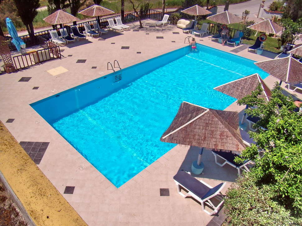 Zwembad van Hotel Aegeon in Skala Kalloni, Lesbos