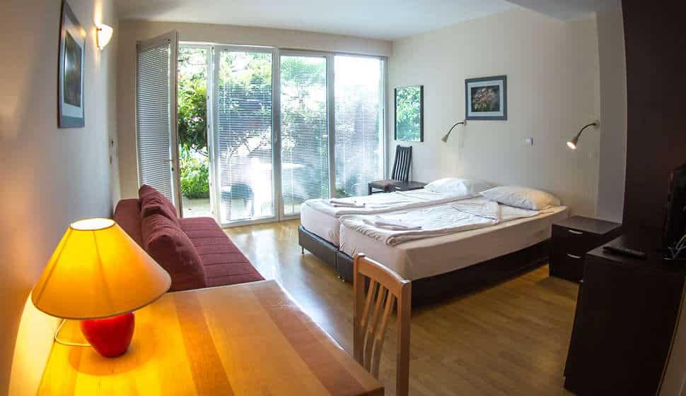 Hotelkamer van hotel Oaza Inn in Ohrid, Macedonië