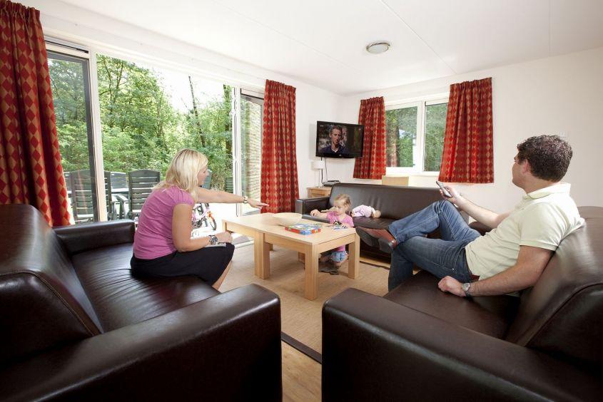 Interieur van een bungalow van Vakantiepark de Berkenhorst in Kootwijk, Gelderland
