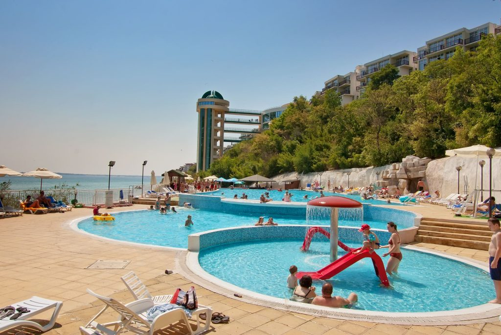 Kinderbad van Paradise Beach in Sunny Beach, Bulgarije