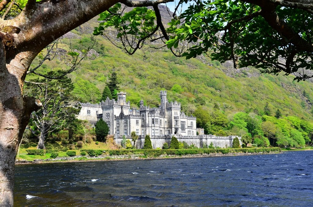 Kylemore Abbey in Ierland
