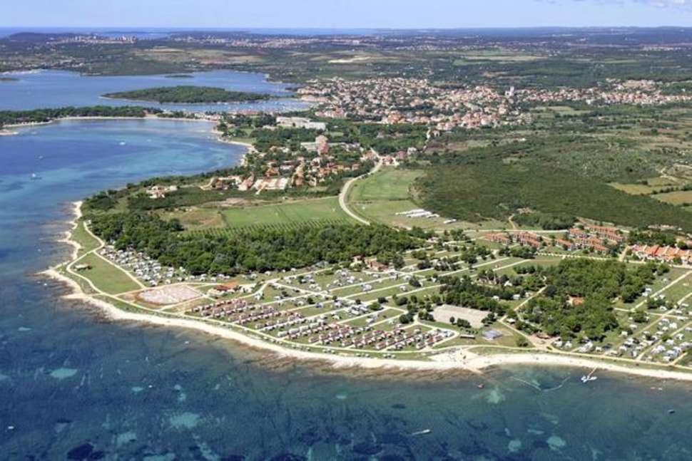 Ligging van Camp Kazela in Medulin, Kroatië