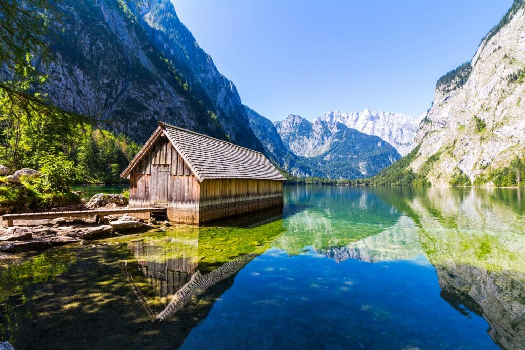 Obersee in Thuringen, Duitsland