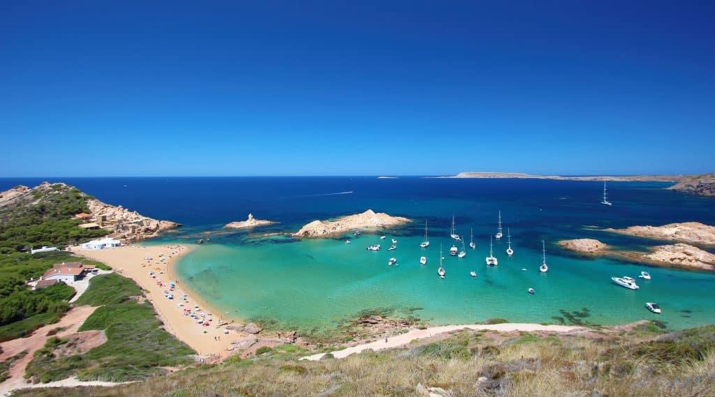 Strand op Menorca, Spanje