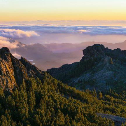 Prachtig uitzicht over de bergen op Gran Canaria, Spanje