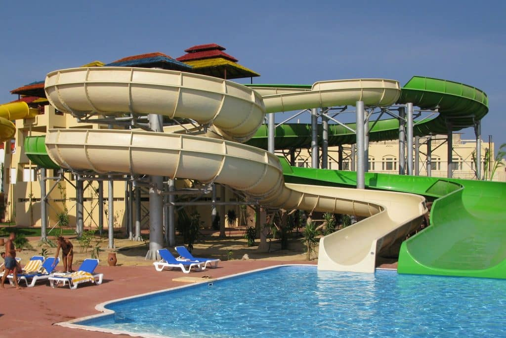 Waterpark van Tia Heights in Makadi Bay, Egypte