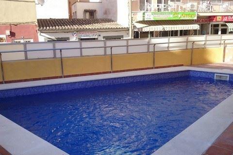 Zwembad van Arcadio Appartementen in El Arenal, Mallorca