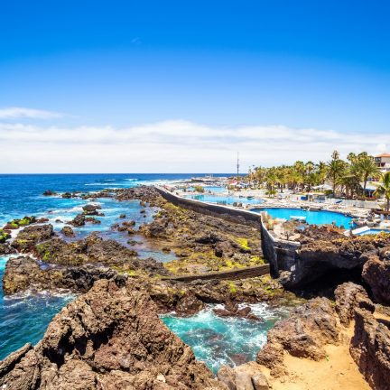 Martianez natuurlijke zwembaden in Puerto de la Cruz, Tenerife